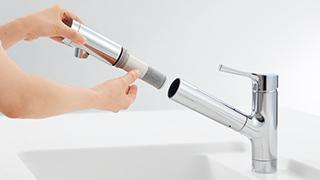 浄水機能付水栓機能2カートリッチjpg